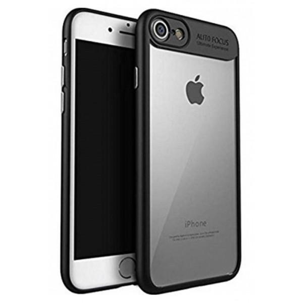 Husa Spate Hybrid Autofocus iPhone 7 Plus / 8 Plus Silicon Si Tpu Negru Transparent imagine itelmobile.ro 2021