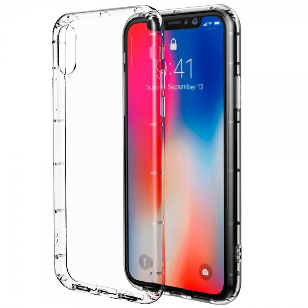 Husa Spate Zmeurino Antishock Crystal Clear iPhone X ,iphone 10 imagine itelmobile.ro 2021
