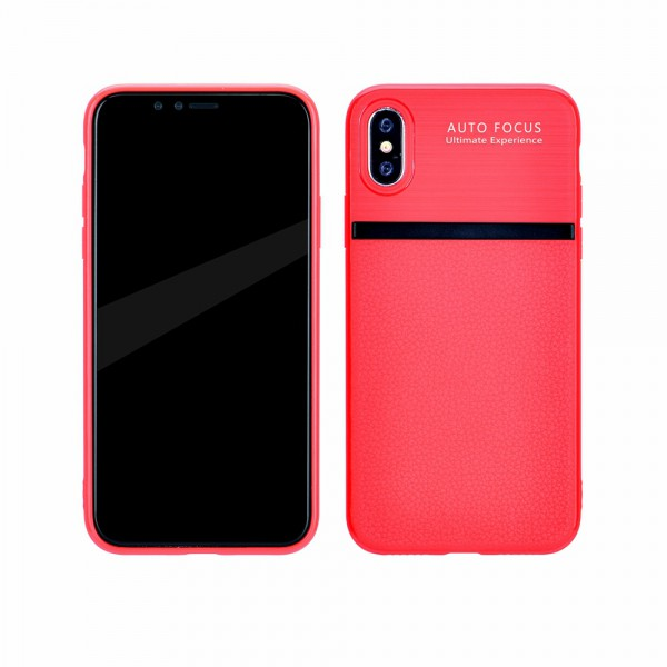 Husa Spate Upzz Auto Focus Silicon Soft iPhone X,iphone 10 Red imagine itelmobile.ro 2021