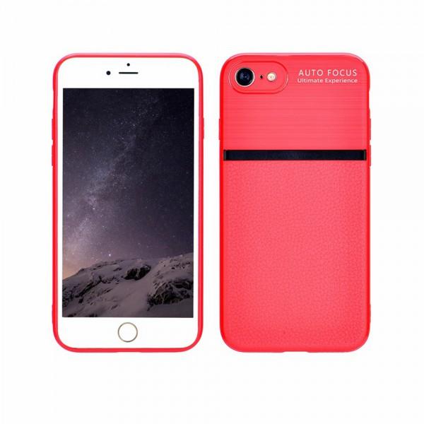 Husa Spate Upzz Auto Focus Silicon Soft iPhone 7/8 Red imagine itelmobile.ro 2021