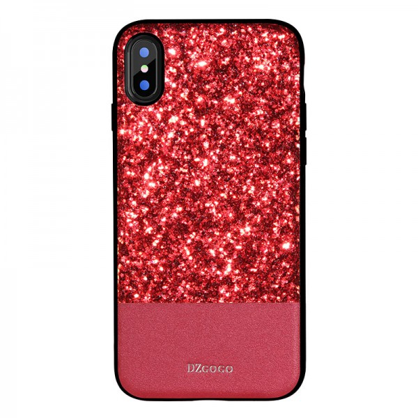 Husa Spate Lux Premium Dzgogo Bling iPhone X,iphone 10 Red imagine itelmobile.ro 2021