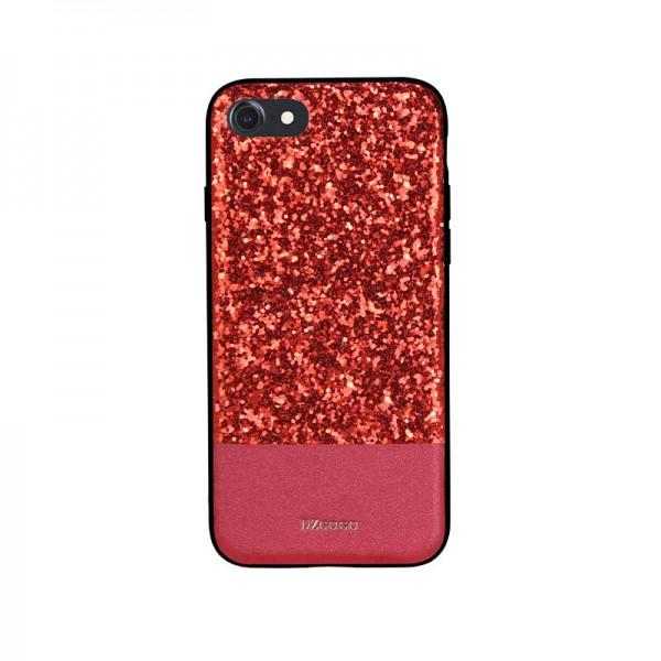 Husa Spate Lux Premium Dzgogo Bling iPhone 7/8 Red imagine itelmobile.ro 2021