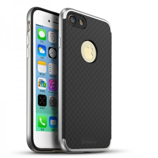 Husa Spate Ipaky Armor iPhone 7 Negru Silver imagine itelmobile.ro 2021