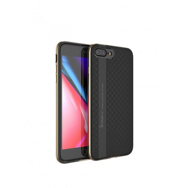 Husa Spate Ipaky Armor iPhone 8 Plus Negru Gold imagine itelmobile.ro 2021