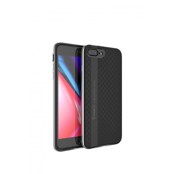 Husa Spate Ipaky Armor iPhone 8 Plus Negru Silver