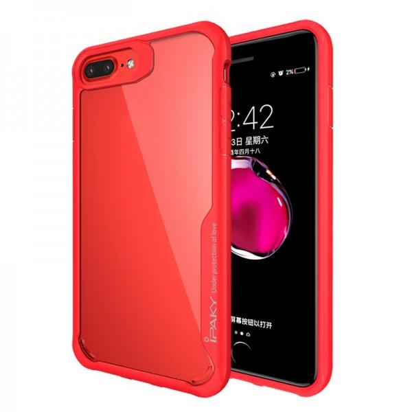 Husa Spate Ipaky Armor Survival iPhone 7 Plus / 8 Plus Rosu Transparent imagine itelmobile.ro 2021