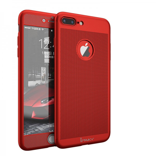 Husa Ipaky Air Plus 360 Grade Ultra Slim iPhone 7 Plus Red Folie Sticla Inclusa