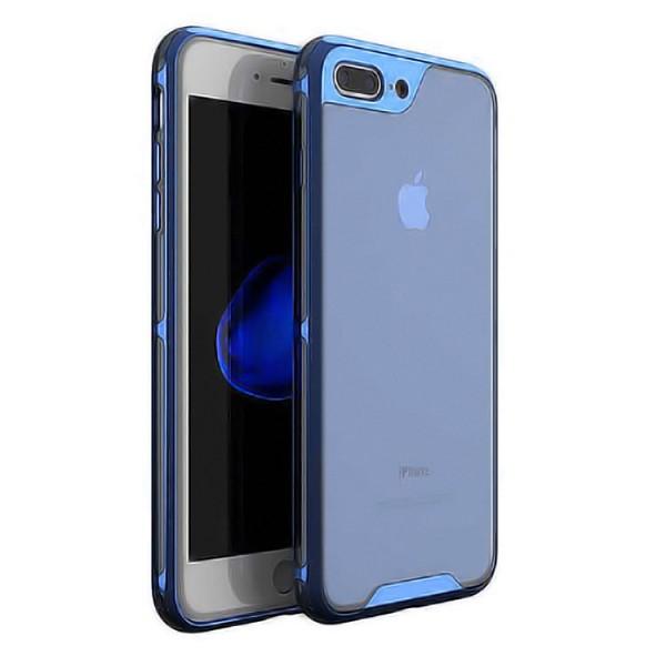 Husa Spate Ipaky Hybrid Top iPhone 7 Plus / 8 Plus Albastru Transparent imagine itelmobile.ro 2021