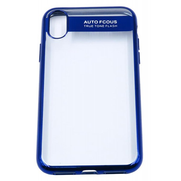 Husa Spate Silicon Electroplated Auto Focus Slim iPhone X ,iphone 10 Blue imagine itelmobile.ro 2021