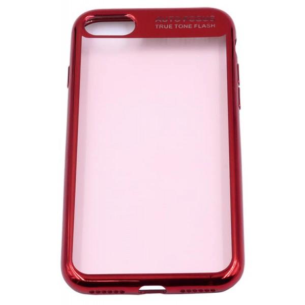 Husa Spate Silicon Electroplated Auto Focus Slim iPhone 7/8 Red imagine itelmobile.ro 2021
