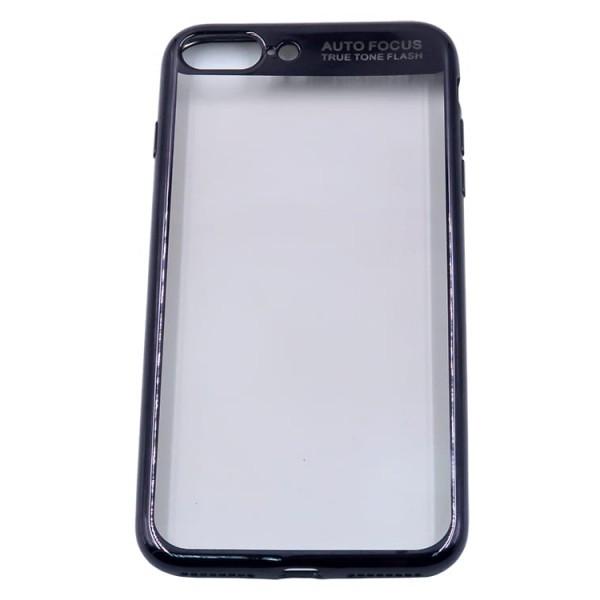 Husa Spate Silicon Electroplated Auto Focus Slim iPhone 7 Plus / 8 Plus Black imagine itelmobile.ro 2021
