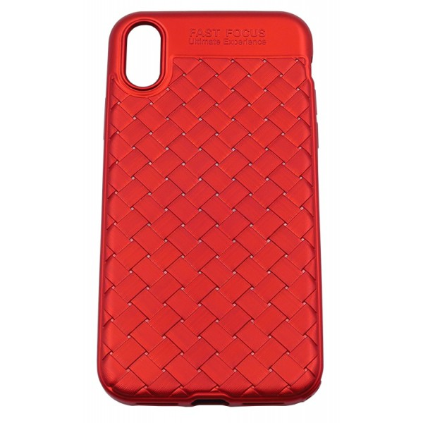Husa Spate Silicon Wave Upzz iPhone X ,iphone 10 Red imagine itelmobile.ro 2021