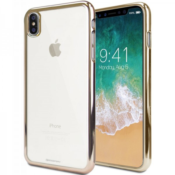 Husa Spate Slim Goospery Ring 2 iPhone X ,iphone 10 Gold imagine itelmobile.ro 2021