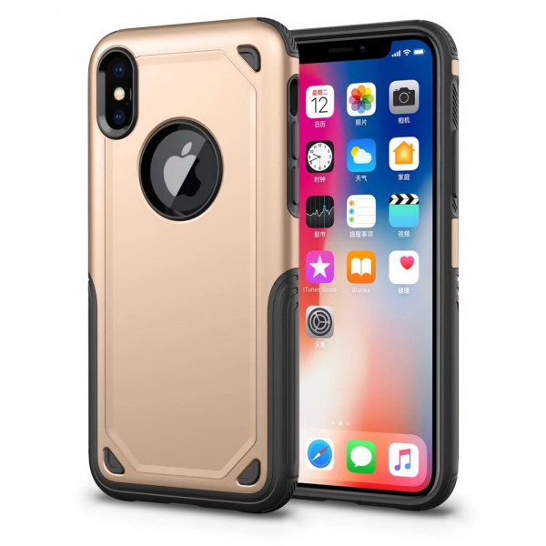 Husa Spate Upzz Sgp Pro iPhone X ,iphone 10 Gold imagine itelmobile.ro 2021