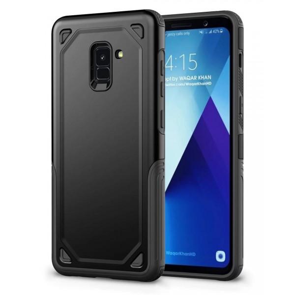 Husa Spate Upzz Sgp Pro Samsung A8 Plus 2018 Neagra imagine itelmobile.ro 2021