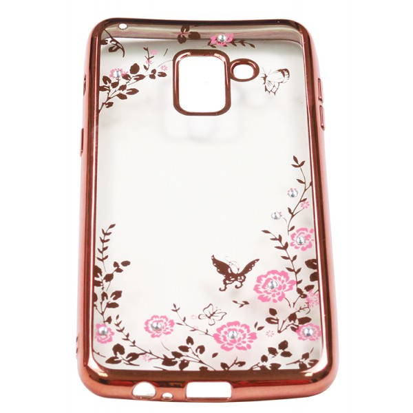 Husa Spate Forcell Bling Diamond Samsung A8 2018 Rose Gold imagine itelmobile.ro 2021