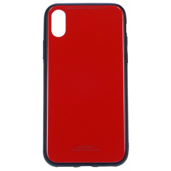 Husa Spate Upzz Glass Pro iPhone X ,iphone 10 Red imagine itelmobile.ro 2021