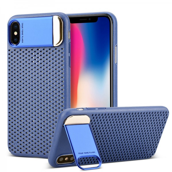 Husa Upzz Air-up Stand Pro iPhone X ,iphone 10 Blue imagine itelmobile.ro 2021