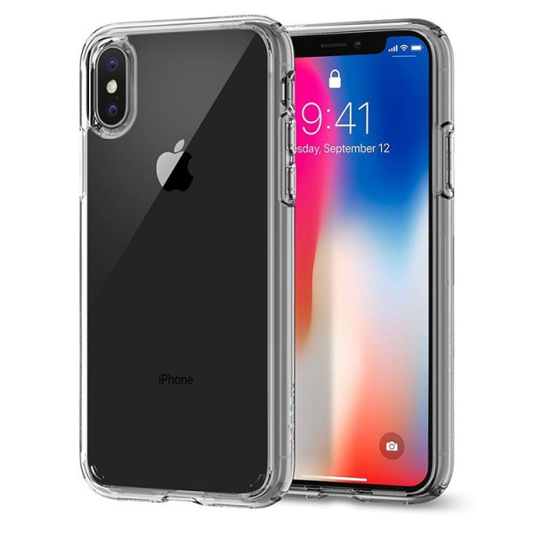 Husa Originala Spigen Ultra Hybrid iPhone X, iPhone 10 Crystal Clear Transparenta imagine itelmobile.ro 2021