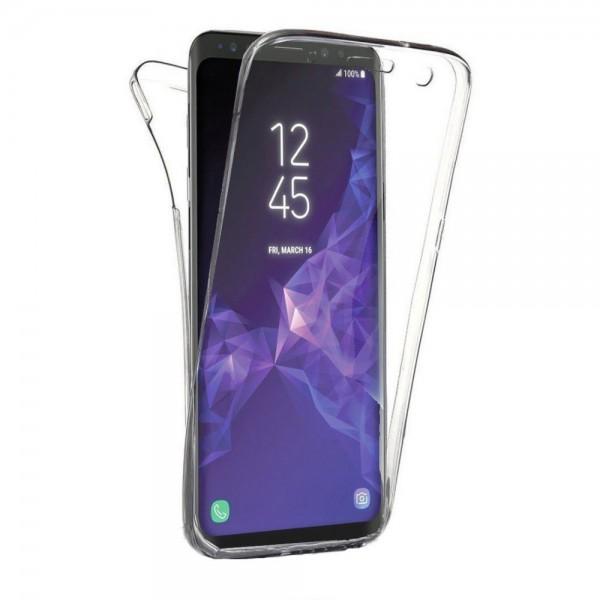 Husa 360 Grade Full Cover Silicon Samsung S9+ Plus Transparenta imagine itelmobile.ro 2021