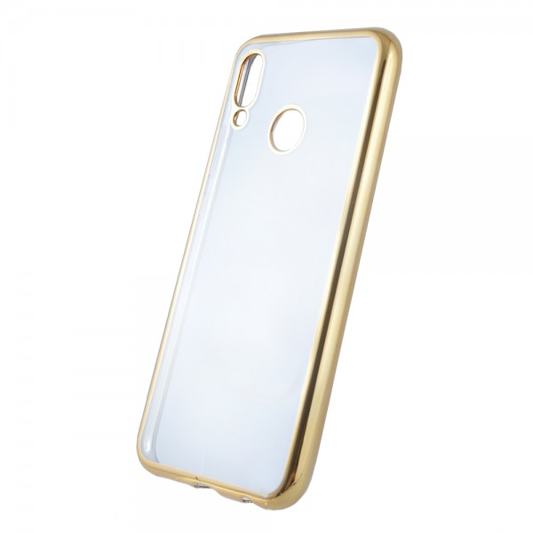 Husa Spate Soft Electroplating Upzz Huawei P20 Lite Gold ,silicon imagine itelmobile.ro 2021