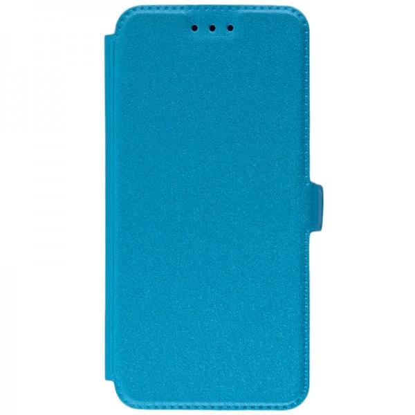 Husa Huawei P20 Flip Cover Pocket Blue imagine itelmobile.ro 2021