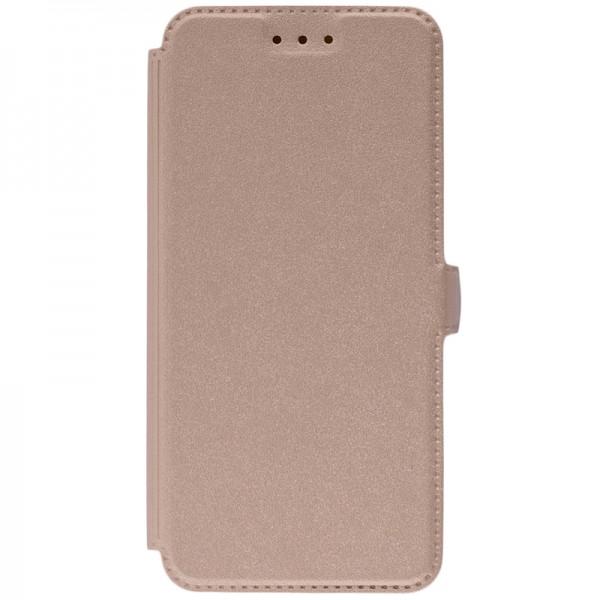Husa Huawei P20 Flip Cover Pocket Gold imagine itelmobile.ro 2021
