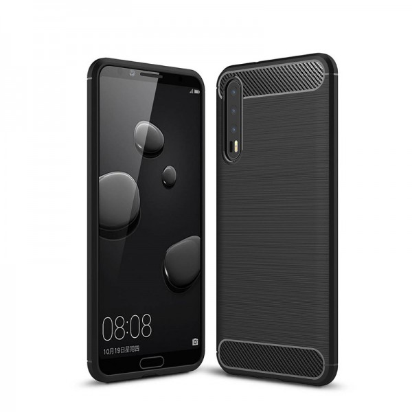 Husa Spate Forcell Carbon Pro Huawei P20 Black imagine itelmobile.ro 2021