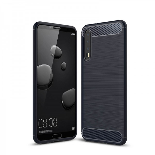 Husa Spate Forcell Carbon Pro Huawei P20 Navy imagine itelmobile.ro 2021