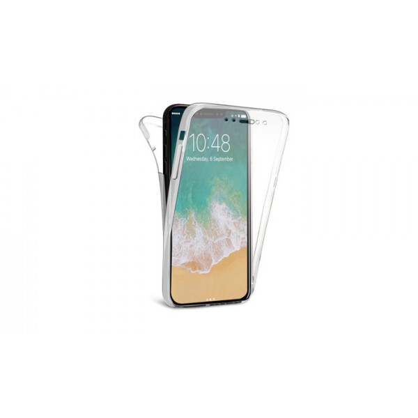Husa 360 Grade Full Cover Silicon iPhone X Transparenta imagine itelmobile.ro 2021