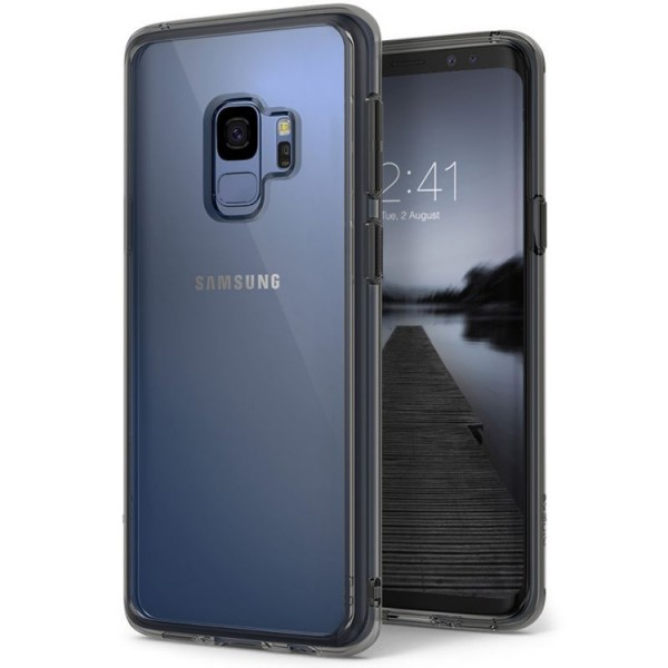 Husa Ringke Spate Fusion Samsung S9 Smoke Black Transparenta imagine itelmobile.ro 2021