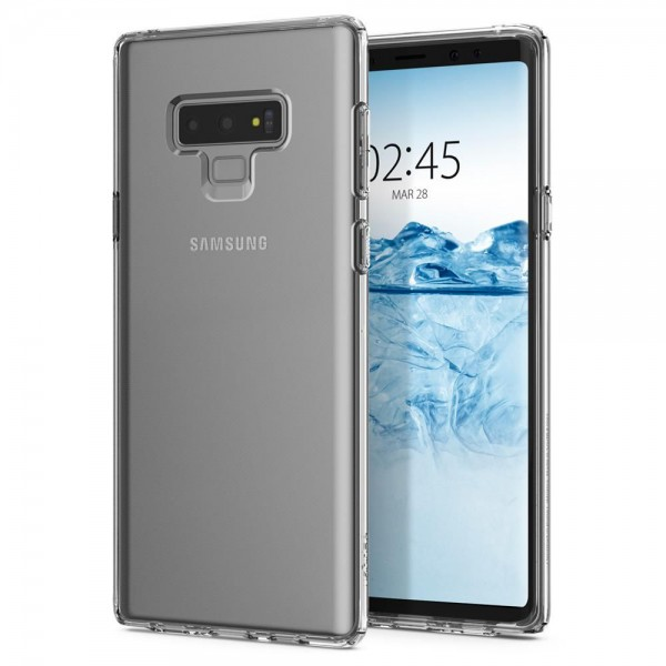 Husa Originala Premium Spigen Liquid Crystal Samsung Note 9 Transparent ,silicon imagine itelmobile.ro 2021