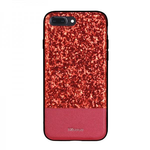 Husa Spate Lux Premium Dzgogo Bling iPhone 7 Plus / 8 Plus Red imagine itelmobile.ro 2021