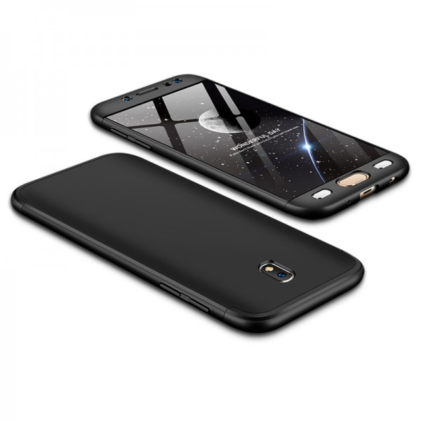 Husa 360 Grade Upzz Protection Samsung Galaxy J7 2017 Negru imagine itelmobile.ro 2021