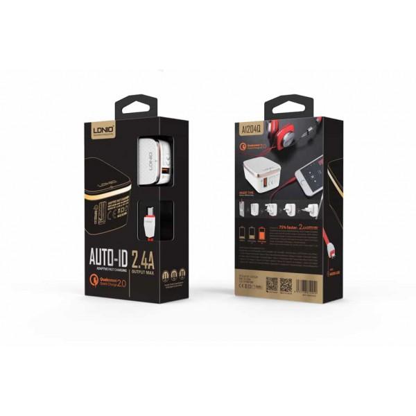 Incarcator Priza Ldnio A1204q Qualcomm Quick Charge 2.0 Usb Cu Cablu Lightning Inclus imagine itelmobile.ro 2021