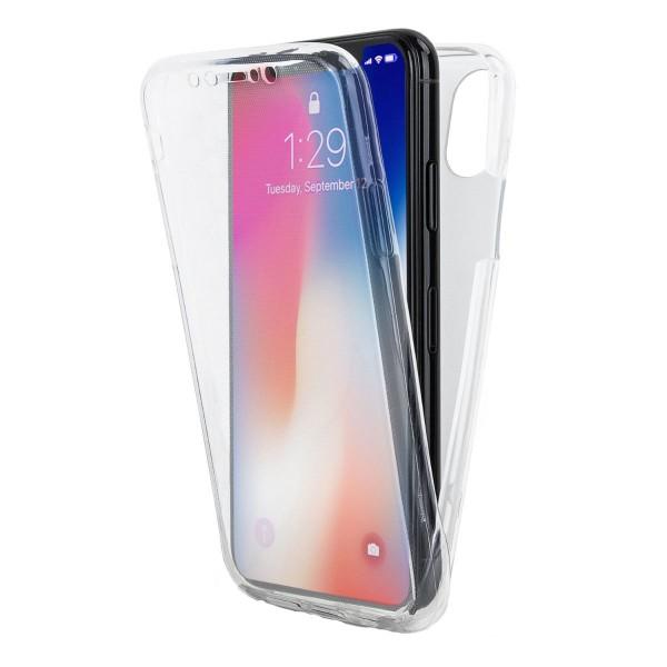 Husa 360 Grade Full Cover Silicon Upzz iPhone Xs Transparenta imagine itelmobile.ro 2021