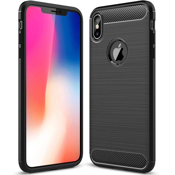Husa Spate Forcell Carbon Pro iPhone Xs Max Black Silicon imagine itelmobile.ro 2021