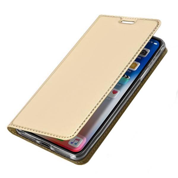 Husa Flip Cover Premium Duxducis Skinpro iPhone Xr Gold imagine itelmobile.ro 2021