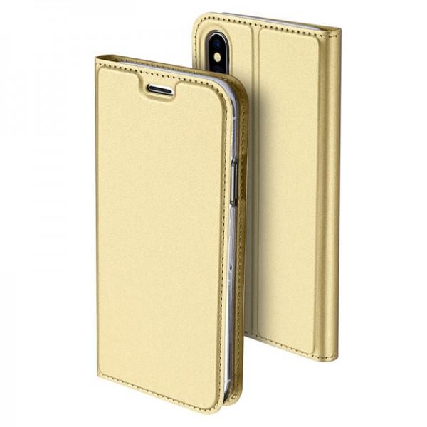 Husa Flip Cover Premium Duxducis Skinpro iPhone Xs Max Gold imagine itelmobile.ro 2021