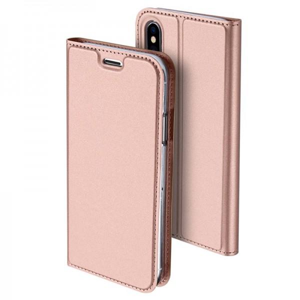 Husa Flip Cover Premium Duxducis Skinpro iPhone Xs Max Rose Gold imagine itelmobile.ro 2021