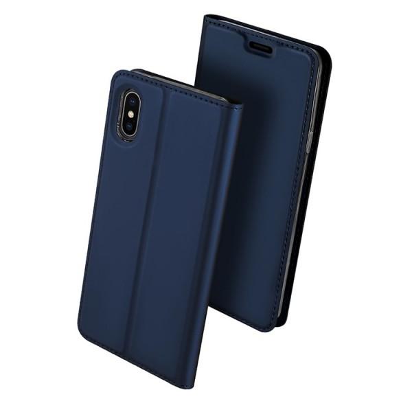 Husa Flip Cover Premium Duxducis Skinpro iPhone Xs Max Albastru imagine itelmobile.ro 2021