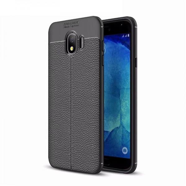 Husa Auto Focus Silicon Soft Upzz Samsung J4+ Plus 2018 Silicon Negru imagine itelmobile.ro 2021