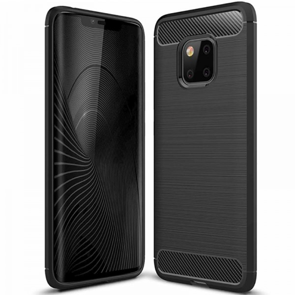 Husa Spate Forcell Carbon Pro Huawei Mate 20 Pro Negru Silicon imagine itelmobile.ro 2021