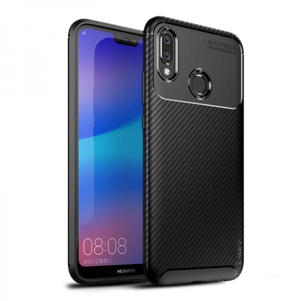 Husa Spate Ipaky Slim Carbon Huawei P20 Lite Negru