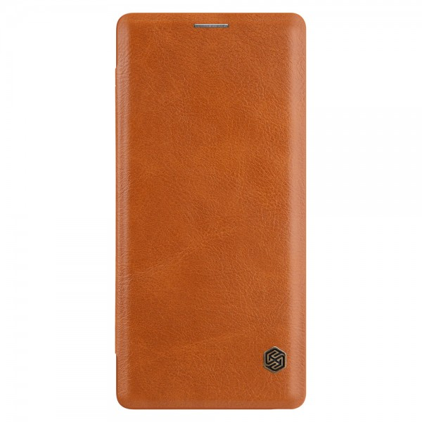 Husa Premium Flip Cover Nillkin Qin Samsung Note 9 Brown imagine itelmobile.ro 2021