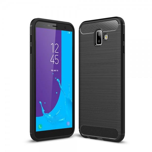 Husa Spate Forcell Carbon Pro Samsung J6+ Plus 2018 Negru Silicon imagine itelmobile.ro 2021
