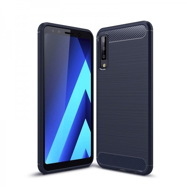 Husa Spate Forcell Carbon Pro Samsung A7 2018 Blue imagine itelmobile.ro 2021