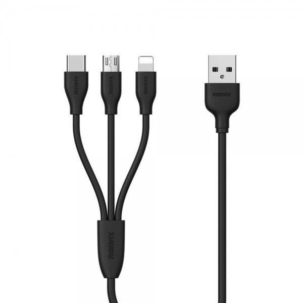 Cablu De Date 3 In 1 Remax Suda Rc-109th Negru Micro Usb, Lightning, Type C imagine itelmobile.ro 2021