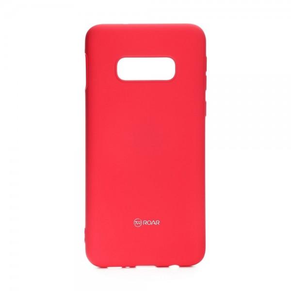 Husa Spate Roar Colorful Jelly Samsung Galaxy S10e Silicon Roz Pink imagine itelmobile.ro 2021