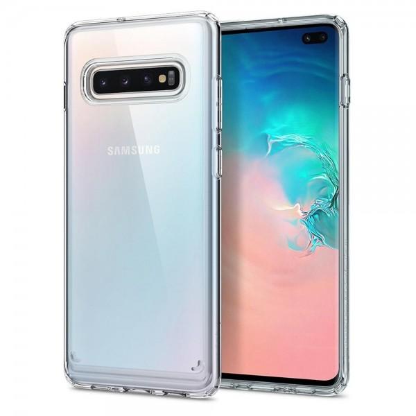 Husa Originala Spigen Ultra Hybrid Samsung Galaxy S10+ Plus Crystal Clear Transparenta imagine itelmobile.ro 2021